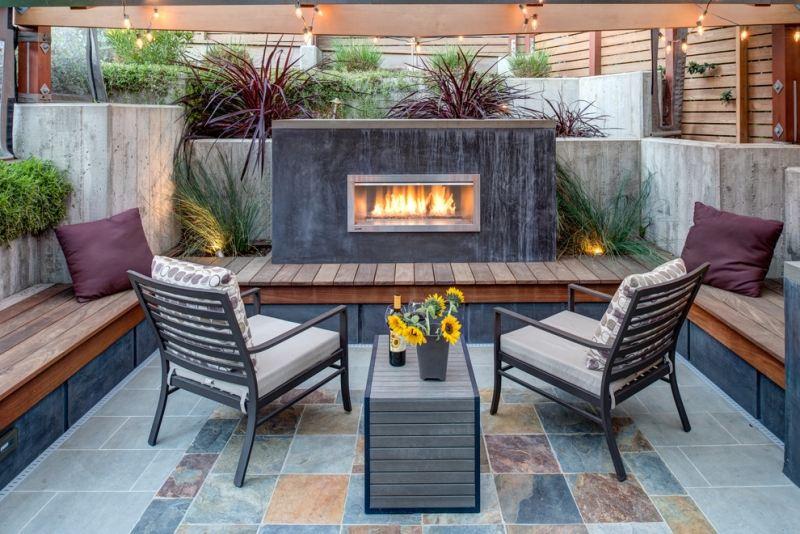 Как оформить в саду место для отдыха