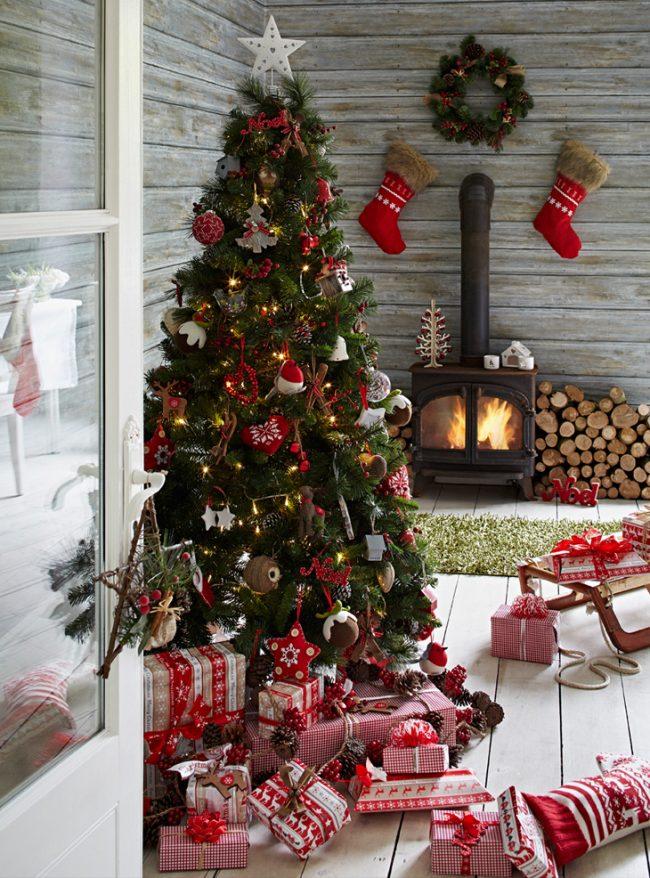 Новогодний декор елки 2017