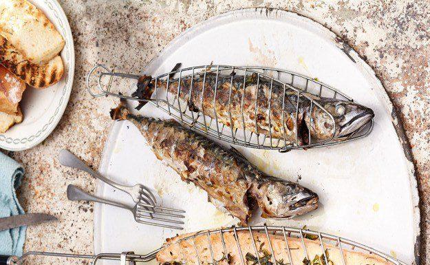 лосось на гриле